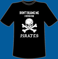 I Voted for Pirates T-Shirt XL