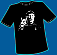Spock On T-shirt, L