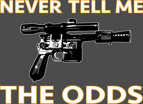 Never Tell Me the Odds T-shirt, XL